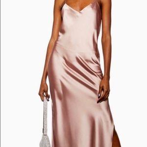 NWOT Topshop Plain Satin Dress